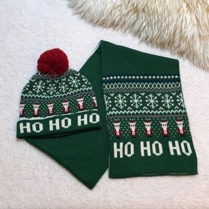 Accessories - Christmas Scarf and Hat Set